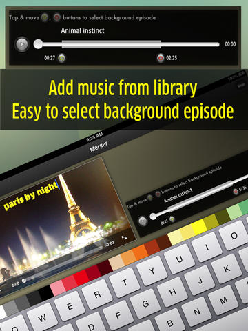 Insta video - add music from library, Easy to select background episode